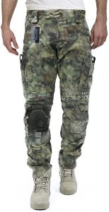Survival Tactical Gear Men's Airsoft Wargame Tactical Pants with Knee Protection System & Air Circulation Syste